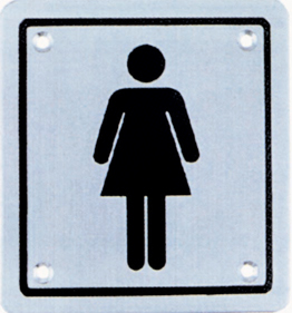 Ladies Wash Sign SQ SS