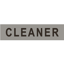 CLEANER (non braille) SS/Vinyl