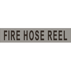 FIRE HOSE REEL (non braille) SS/Vinyl