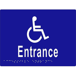 Accessible Entrance 200x150 BRAILLE