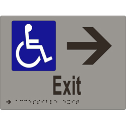 Accessible Exit & Arrow BRAILLE