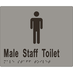 Male Staff Toilet 180x150 BRAILLE – SS