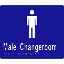 Male Change Room BRAILLE - SS/Vinyl