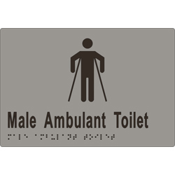 Male Sign, Male Ambulant Toilet 220x150 BRAILLE