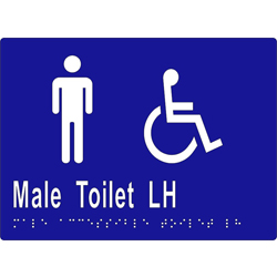 Male Accessible Toilet L/H 205x150 BRAILLE – SS