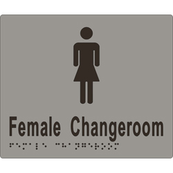 Female Sign, Female Change Room 180x150 BRAILLE