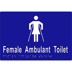 Female Sign, Female Ambulant Toilet 220x150 BRAILLE