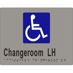Accessible Change Room L/H 190x150 BRAILLE