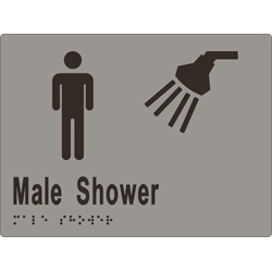 Male Shower 200x150 BRAILLE – SS