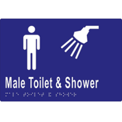 Male Toilet and Shower BRAILLE – SS