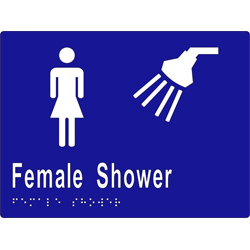 Female Sign, Female Shower 200x150 BRAILLE
