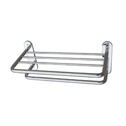 Towel Shelf with Drying Rail Concealed Fix SS