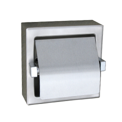 Recessed Single Roll Toilet Tissue Dispenser Hooded - PSS