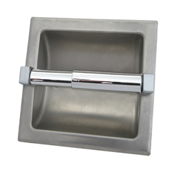 Recessed Single Roll Toilet Tissue Dispenser without Hood - SSS