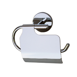 Sturt Series: Toilet Paper Holder with Lid - Bright Chrome