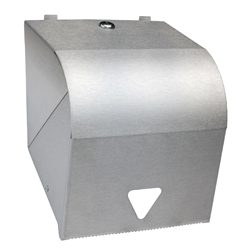 Paper Roll Towel Dispenser Lockable W =PC White & SS =Stainless Steel