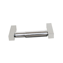 Paterson Series: Single Toilet Roll Holder - Sq Mnt w/CP Rollers - PSS