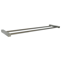 Paterson Series: Double Towel Bar 750mm - Square Mount - PSS