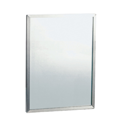460mm x 610mm Framed Mirror with 6mm Vinyl Backed Safety Glass - SSS
