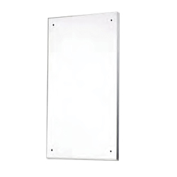 Polished SSS Mirror 295mm x 445mm Solid Nylon Backed