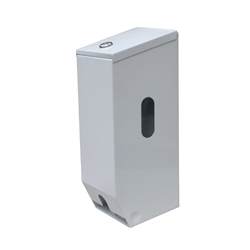 Vertical Double Toilet Roll Dispenser - PC White