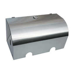 Double Toilet Paper Holder, Lockable - SSS 280mm (W) x 133mm (H) x 135mm (D)