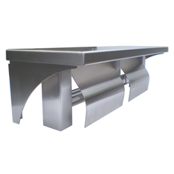 Double Toilet Roll Holder and Shelf - SSS