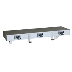 Utility Shelf with Mop Holders, Hooks & Rail 762mm SS