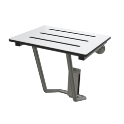 Economy Folding Shower Seat 460w x 400d with Compact Laminate Seat, SSS Frame