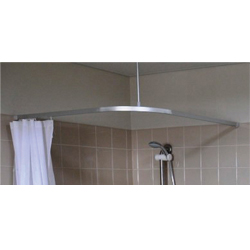 L Bend Shower Curtain Track System