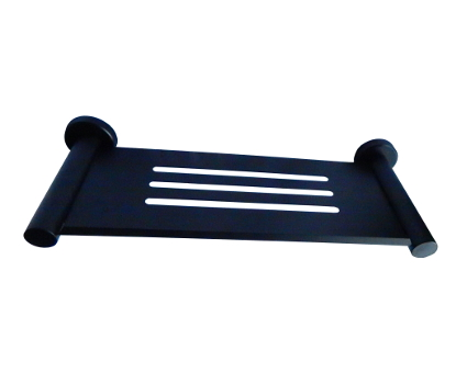 ML2712-Black Designer Black - Bathroom Shelf/Soap Dish
