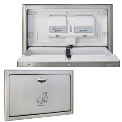 Metlam Stainless Steel Recessed Horizontal Baby Change Station