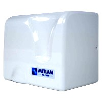Automatic Hands Free Hand Dryer - White ABS
