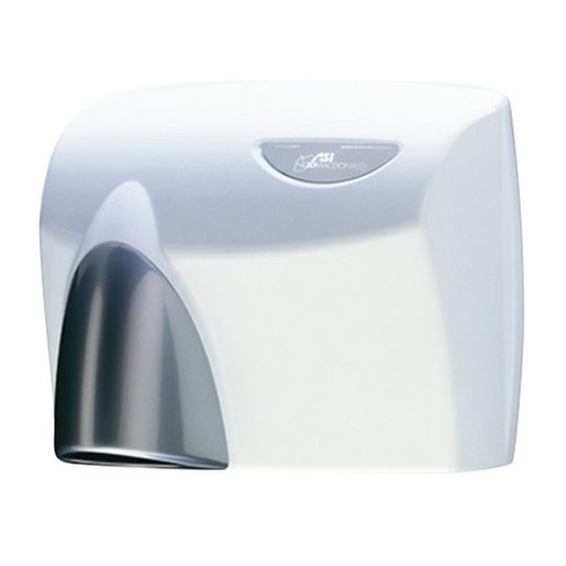 White W/Sliver Nozzel Hand Dryer